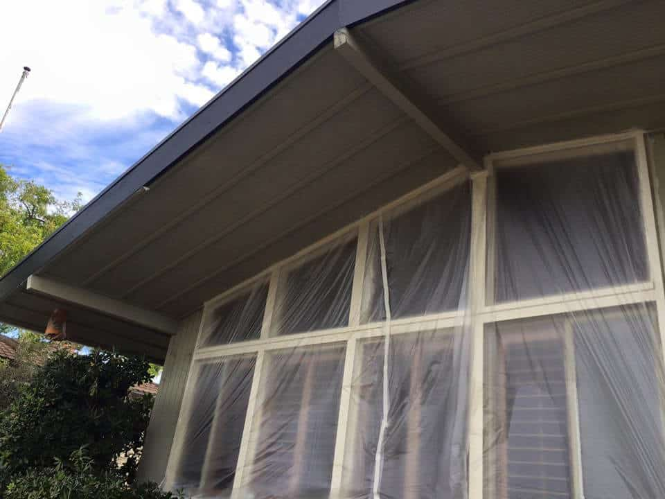 The Tan House Window - Exterior Painting