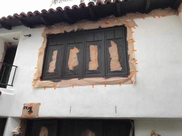 The Villa House Window - Exterior Painting