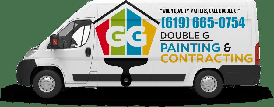 Double G contractor van - House Painters in Pacific Beach CA