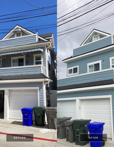 Before and After 1 May 01 2021 09 30am tF2N 400x516 - Exterior House Painting | Coronado, CA